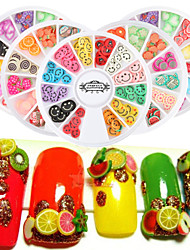 4pcs 6cm DIY Nail Art 3D Fruit Fimo Slices Polymer Clay DIY Slice Decoration Nail Sticker  Random Color