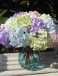 mini holde blomster simulering hortensia bryllup dekoration kunstig blomst