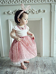 cheap -2015 Baby Girl Summer  Princess T -shirts And Skirts  Suits Children Cute Sequins Sets Girls Cotton Fashion Sets