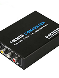 economico -hdmi convertitore composito s-video a HDMI 720p 1080p scaler video audio convertitore CVBS l / ingresso R