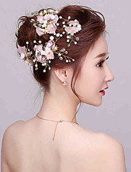 cheap -Imitation Pearl Rhinestone Flowers 1 Wedding Special Occasion Headpiece