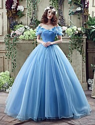 Ball Gown Princess Off-the-shoulder Court Train Georgette Wedding Dress with Bow Pick-Up by Shiqiushi