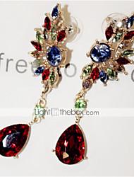 preiswerte -Damen Kubikzirkonia Diamantimitate Tropfen-Ohrringe - Rot Grün Flügel Ohrringe Für