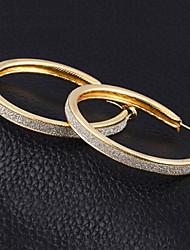 baratos -Mulheres Zircônia Cubica Brincos em Argola - Zircônia Cubica, Prata Chapeada Importante Dourado / Prata Para