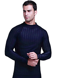 cheap -Men's Diving Rash Guard SPF30, UV Sun Protection, Quick Dry Spandex Long Sleeve Swimwear Beach Wear Sun Shirt / Top Fashion Diving / Breathable / Anatomic Design / Stretchy / Breathable