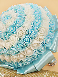 """cheap -Wedding Flowers Bouquets Wedding Elastic Satin / Rhinestone / Satin 16.14""""(Approx.41cm)"""