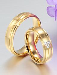 Široké prsteny Nerez 18K zlatá Ocel Módní Barva obrazovky Šperky Párty 1ks