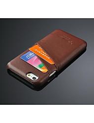 baratos -caso fashion1 de couro de lã de litchi fashion® para iphone 6s 6 mais iphone capas