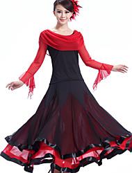 preiswerte -Für den Ballsaal Kleider Damen Vorstellung Kreppe Milchfieber Drapiert 1 Stück Kleid