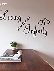 cheap -AWOO® Loving You Wall Sticker DIY Home Decorations Quotes Vinyl Wall Decals Wall Mural Art