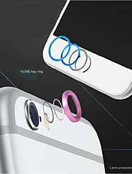 High quality Metal Home button Cover Ring Protector Circle + Aluminum Alloy Camera Lens Cover Guard for IPHONE 6/6S
