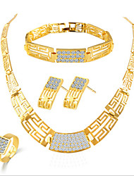 economico -Da donna Set di gioielli Lusso Romantico Da serata A schiava Di tendenza Feste Occasioni speciali Compleanno Pietra dura e cristallo