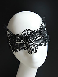 cheap -Gothic Style Black Lace Mask Cat Queen for Wedding Party