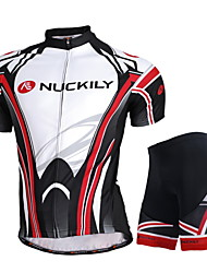 cheap -Nuckily Cycling Jersey with Shorts Unisex Short Sleeves Bike Jersey Shorts Top Clothing Suits Waterproof Ultraviolet Resistant Waterproof