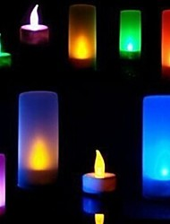 cheap -Voice Control 7 Colors Change Battery Operated LED Candle Light