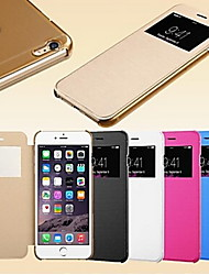 economico -contenitore di cuoio astuto touch screen vista per iphone5 / 5s