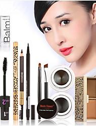 Hot Makeup Set Eyeshadow Palette Eyelashes Brush Mascara Eyeliner Pen Kit