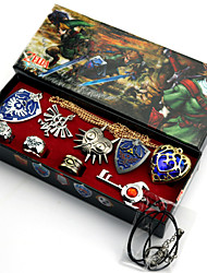 cheap -Jewelry Inspired by The Legend of Zelda Cosplay Anime/ Video Games Cosplay Accessories Necklace / Brooch Red / BlueAlloy / Artificial