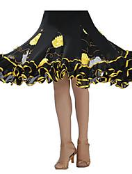 cheap -Ballroom Dance Tutus & Skirts Women's Performance Crepe Sequined Draping Skirt