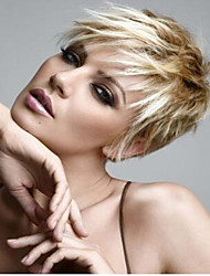 cheap -new product blonde short syntheic wave wig extensions top quality