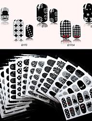 Недорогие -1 Наклейка для переноса воды Блеск и Пудре 3D-стикеры для ногтей Цветы Мультяшная тематика Мода Милый Повседневные Высокое качество