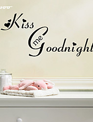 cheap -AWOO® New Pattern Kiss Me Goodnight Wall Sticker  Group On Behalf Of English customization