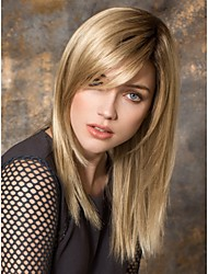 cheap -Long Length Straight Hair European Weave Light Brown Hair Wig