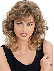 Недорогие -Парики из искусственных волос Волнистый Блондинка Искусственные волосы Блондинка Парик Жен. Без шапочки-основы Блондинка