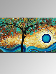 Недорогие -Визуальный star®new повезло дерево картина маслом ручной работы холст современного искусства готовы повесить