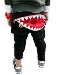 cheap -Boy's Fashion Casual Zipped Shark Teeth Haroun Pants