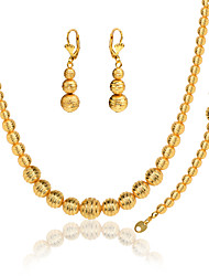 Jewelry Set Vintage Cute Party Work Casual Party Gold Plated Bracelet Necklace Earrings