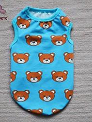 Chat / Chien T-shirt Rouge / Jaune / Bleu Vêtements pour Chien Eté Dessin-Animé / Animal Cosplay / Anniversaire / Mode