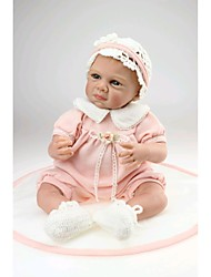 cheap -NPK DOLL Reborn Doll Baby Silicone / Vinyl - Newborn, lifelike, Cute Girls' Kid's Gift
