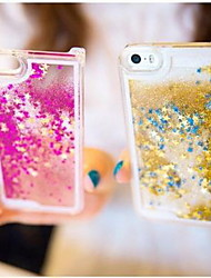 cheap -Fun Glitter Star Liquid Back Quicksand Transparent Clear PC Hard Cover For iPhone 5C