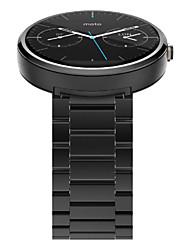 preiswerte -hochwertige Luxus-Edelstahl-Uhrenarmband-Armband mit 2 Federstab für motorola moto 360 1st Gen