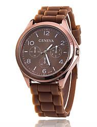 baratos -Xu™ Mulheres Relógio de Pulso Relógio Casual Silicone Banda Amuleto / Casual / Fashion Preta / Branco / Azul