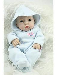 npkdoll возрождается кукла ребенка жесткий силикон 11inch 28см водонепроницаемая игрушка с капюшоном одежда синий мальчик
