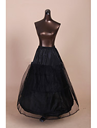 Wedding Special Occasion Slips Polyester Tulle Netting Floor-length Tea-Length A-Line Slip Ball Gown Slip Chapel Train With