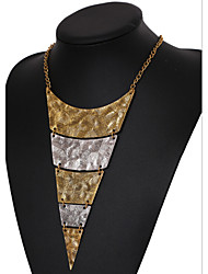 cheap -Women's Layered Necklace Statement Necklace - Multi Layer European Triangle Geometric Necklace For