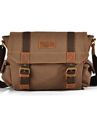 cheap -Mens Vintage Canvas Messenger Bag Travel Military Handbag Shoulder Book Bag