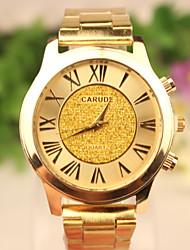 baratos -Homens Relógio de Pulso Relógio Casual Rosa Folheado a Ouro / Aço Inoxidável Banda Dourada