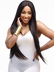 cheap -African Black Wig Fashion Female  Fiber False Head Long Straight Hair