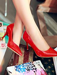 お買い得  -女性用 靴 レザーレット 春 / 夏 スティレットヒール ベージュ / レッド / ピンク