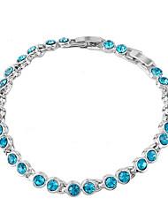 cheap -Women's Crystal Chain Bracelet - Crystal Unique Design, Fashion Bracelet Purple / Rose / Blue For Wedding / Party / Daily