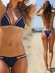 abordables -Bikinis Aux femmes Couleur Pleine Sans Armature / Soutien-gorge Sans Rembourrage Bandeau Nylon / Spandex