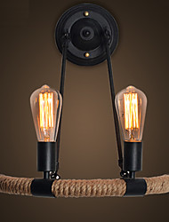 E27 40*43CM 10-15㎡European Contracted Retro Hemp Rope Wall Lamp Led Lights