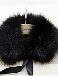 cheap -Sleeveless Faux Fur Party Evening Casual Fur Wraps Fur Accessories Faux Leather Collars