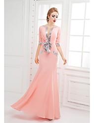 Trompete / Meerjungfrau Boden-Länge Chiffon Formeller Abend Kleid mit Schleife(n) Pailletten durch SGSD