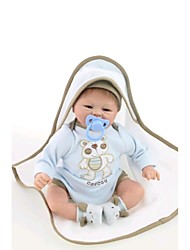 "cheap -18"" Reborn Baby Doll Toys Handmade Child Safe lifelike Non Toxic Newborn Silicone Vinyl Pieces"
