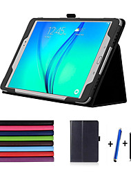 cheap -Luxury Case  Lichee Style PU Leather Stand Cover For Samsung Tab A 9.7 T550 T555 Stylus+Film